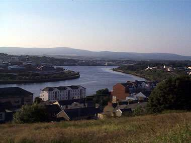 View of Dormans Court on the banks of the River Foyle - Londonderry